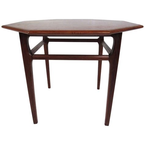 Mersman Side Table by Mid Century Modern Octagonal Side Table By Mersman For