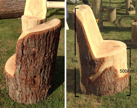 tree trunk chair tree trunk chairs seating a e