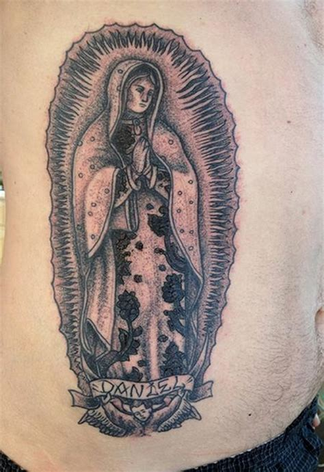lady of guadalupe tattoo black dot work of guadalupe by jeff johnson
