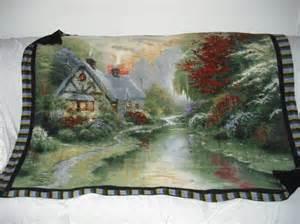 fleece thomas kinkade blanket by twocraftynanas on etsy