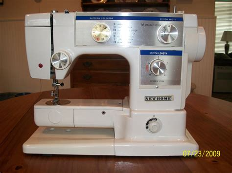 vintage janome new home sewing machine