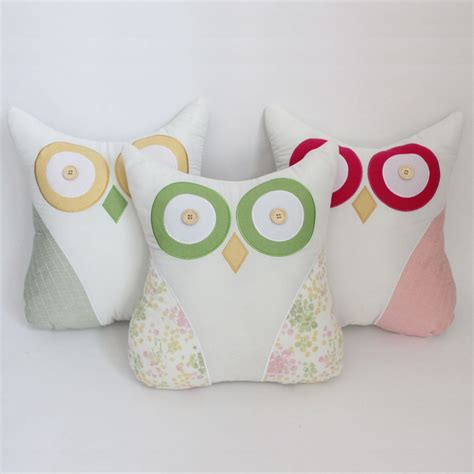 Patchwork Owl Cushion Pattern - free shipping 3d design owl cushion embroidery patchwork