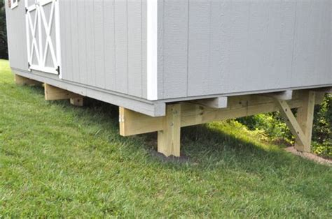 Shed Base On A Slope by How To Build A Shed Foundation On A Slope Backyard Sheds