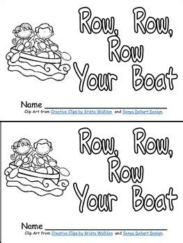 row your boat kindergarten row row row your boat book poster more kindergarten