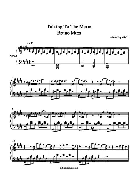 tutorial piano talking to the moon bruno mars talking to the moon piano notes