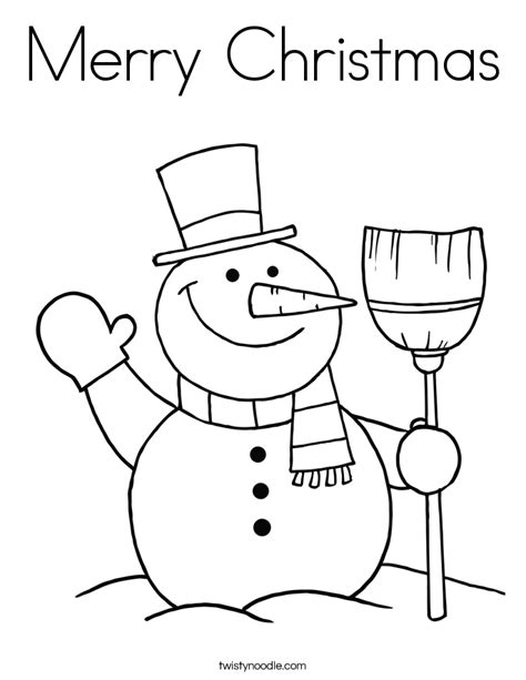 Merry Christmas Coloring 13 670820 Merry Coloring Pages Snowman