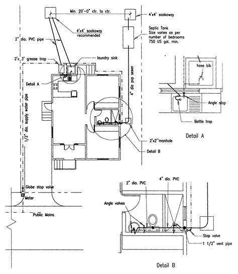 plumbing plan for a house building guidelines drawings