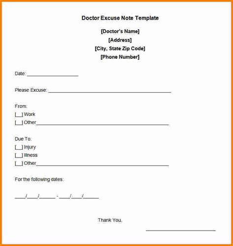 free printable doctors note template 13 free doctors note cashier resume