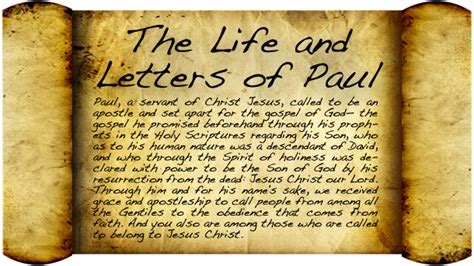 the letters of paul germantown church of god