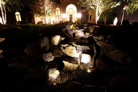Landscape Lighting Estimate Landscape Lighting With Custom Water Feature Innovative