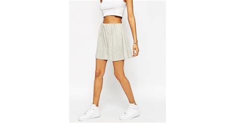 Origami Mini Skirt - asos mini skirt with origami waist in lyst