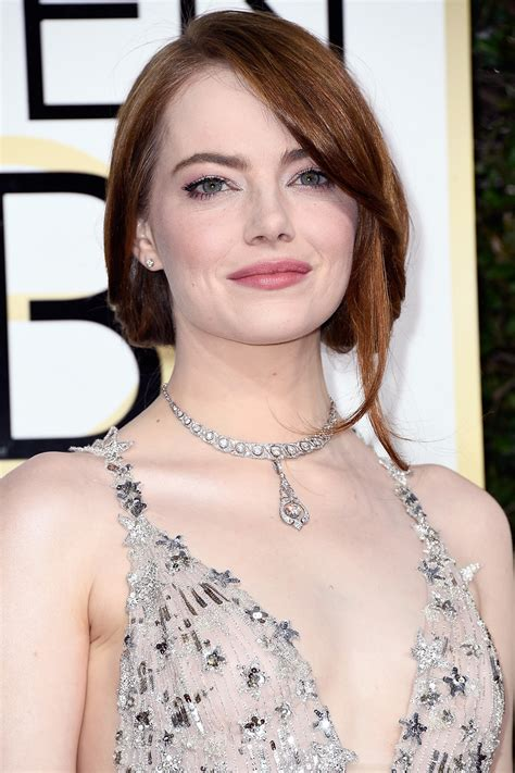 emma stone jewelry best red carpet jewelry from 2017 golden globes