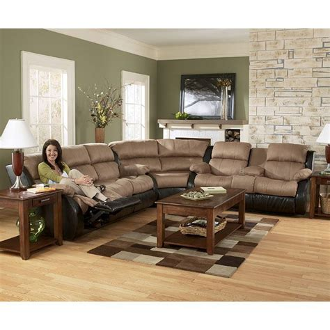 presley cocoa reclining sofa presley cocoa reclining sectional living room set for