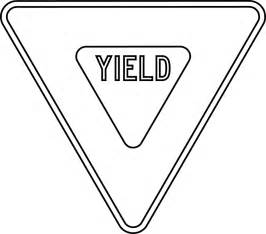 Road Sign Outlines by Yield Outline Clipart Etc