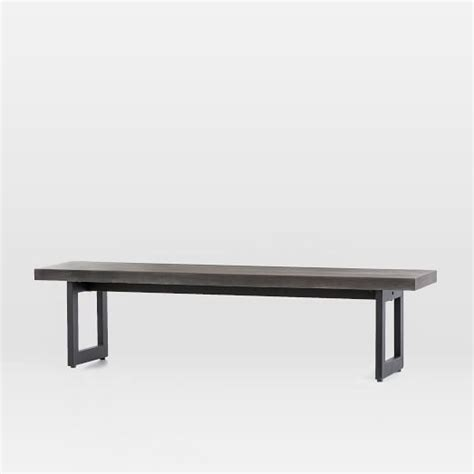 iron benches indoor ashton indoor outdoor dining bench iron west elm