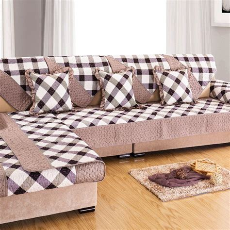 plaid sofa slipcovers grey plaid sofa cover towel cover for sectional