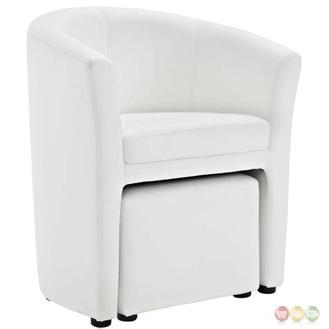 white armchair with ottoman divulge modern upholstered armchair with matching ottoman