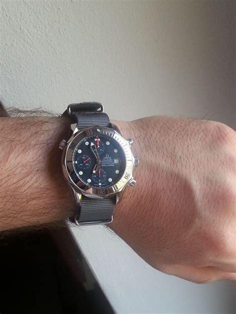 omega seamaster 300m chrono diver grey nato