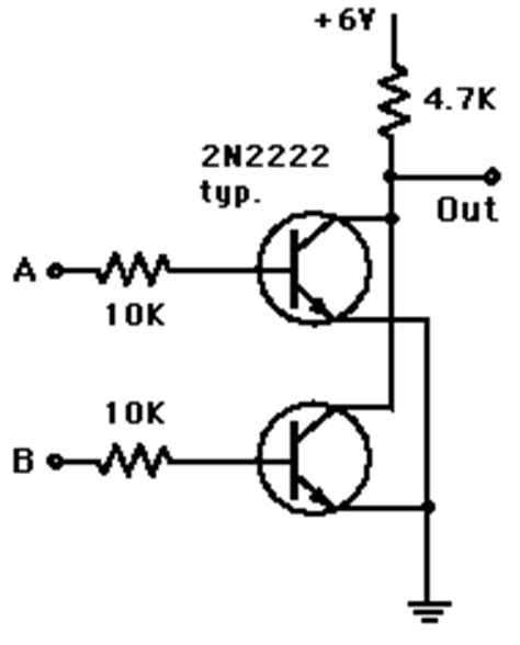 transistor nor gate transistor gates
