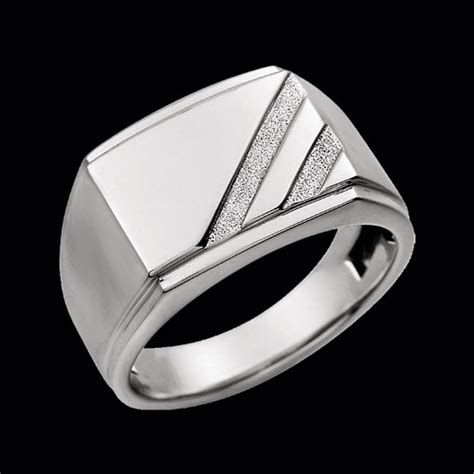 s white gold signet ring