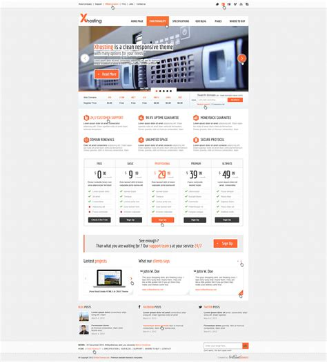 html5 templates responsive xhosting responsive html5 css3 template by