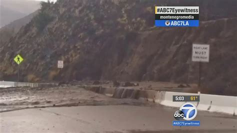 Pch Closures - pch closure caltrans climbers remove unstable rocks from hillside abc7 com