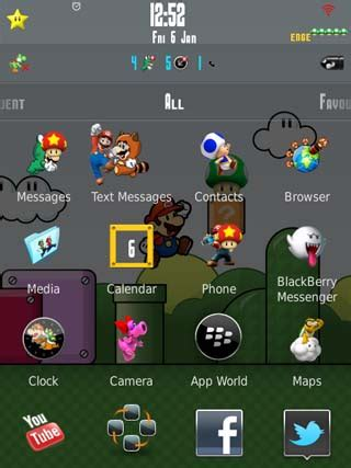 Grab A Mario Bros Theme For Your Firefox Browser by Blackberry Theme Roundup January 10 2012 Crackberry