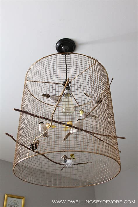 Bird Cage Light Fixture Dwellings By Devore Trying Out A New Gold Spray Paint And Another Bird Light