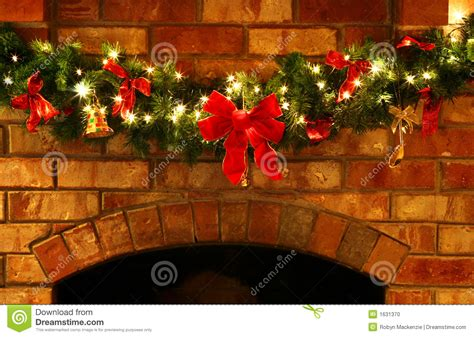 christmas garland with lights stock photo image 1631370