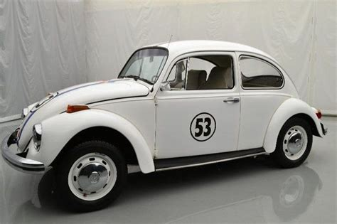volkswagen bug white 70 vw beetle white with herbie decals 1600cc 4cyl 4spd