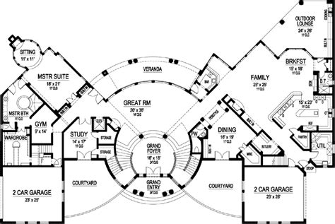 6 bedroom house plans luxury luxury style house plans 10639 square foot home 3