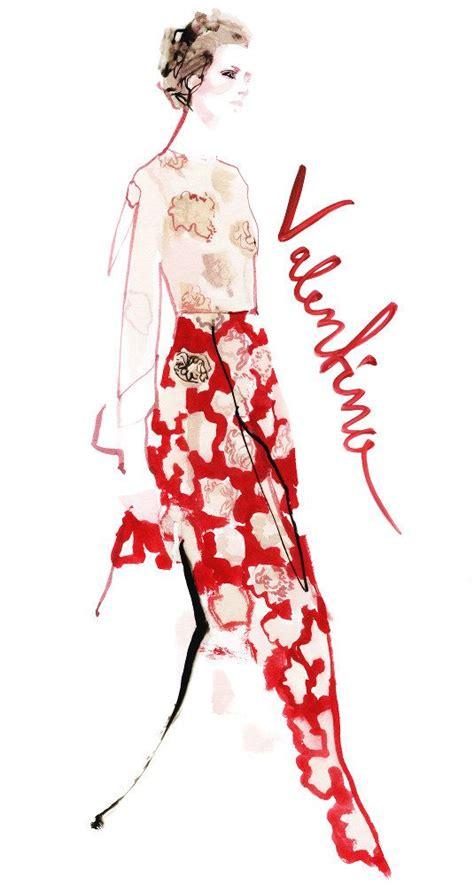 fashion illustration valentino portfolio overview david downton serlin associates
