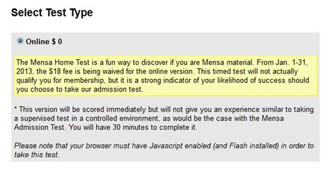 of all deals free mensa test normally 18