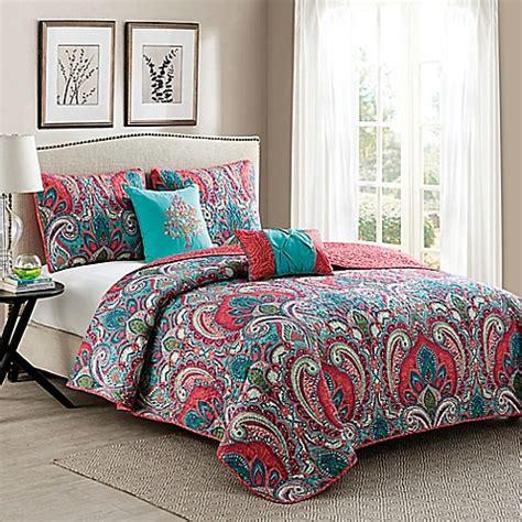 casa re vcny casa re al quilt set in pink turquoise bed bath