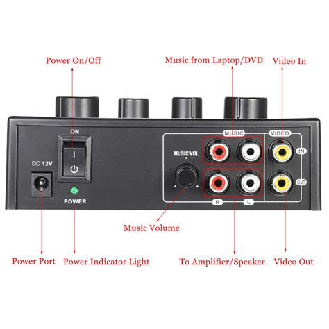 Mixer Untuk Karaoke karaoke sound mixer dual mic inputs with cable outdoorfree