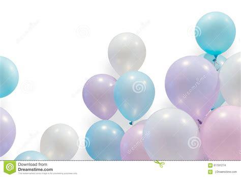 pastel color balloon stock photo image