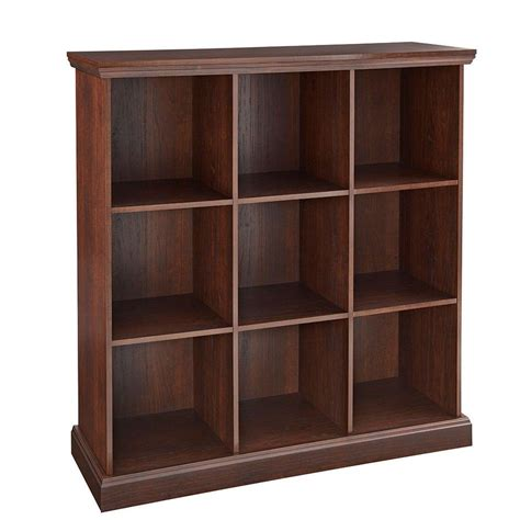 closetmaid 37 in x 39 in mahogany 9 cube organizer 14954