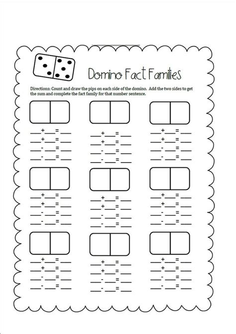 first grade information families of fact fact families worksheets first grade activity shelter