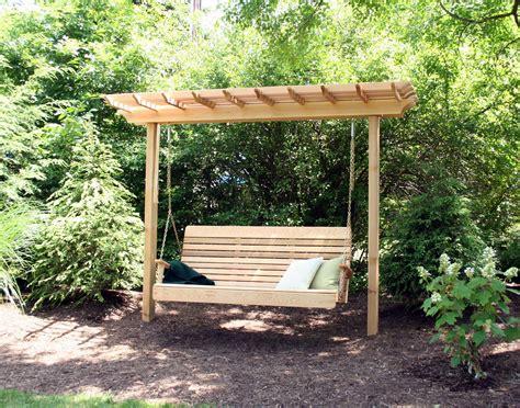 trellis swing build arbor swing with trellis top outdoor decorations