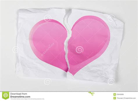 ripped appart heart torn apart royalty free stock photos image 23045838