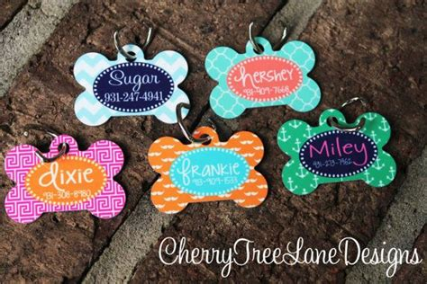 custom tags for pets tag personalized pet tag monogram gift pet id