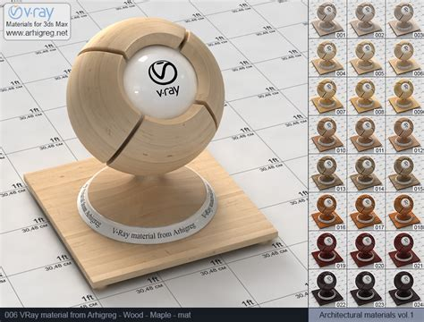 Vray Mats by Vray Materials Wood