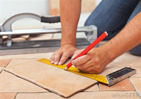 laying ceramic tile learn how to lay ceramic tile what is the best material for a kitchen floor with pictures