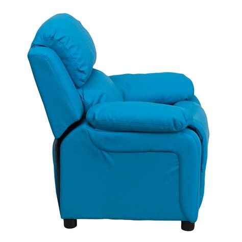 turquoise recliner chairs flash furniture deluxe heavily padded contemporary