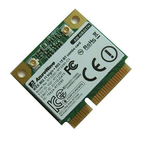Wifi Card azurewave wifi wlan aw 087h ieee802 11b g n mini pcie half size wireless lan card wth bluetooth