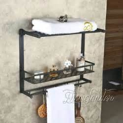 rubbed bronze layers wall mount bathroom shelf