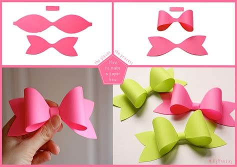Paper Bows - wonderful diy easy paper bows