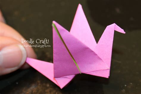 How To Make An Origami Crane That Flaps Its Wings - doodlecraft origami flapping paper crane mobile