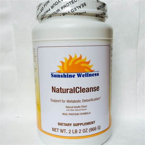 Protein Powder Detox Clear by Cleanse Shake Rice Based Vanilla