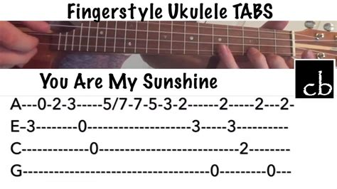 Fingerstyle Tutorial You Are My Sunshine | you are my sunshine fingerstyle ukulele tutorial youtube
